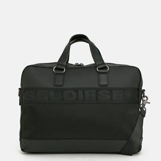 Čierna pánska taška na notebook Diesel
