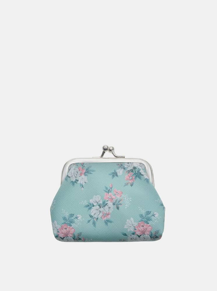 clayre & eef Modrá kvetovaná malá peňaženka Clayre & Eef