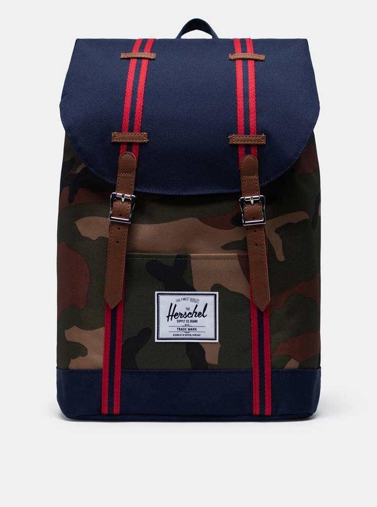 Herschel Supply Modrý vzorovaný batoh Herschel Supply
