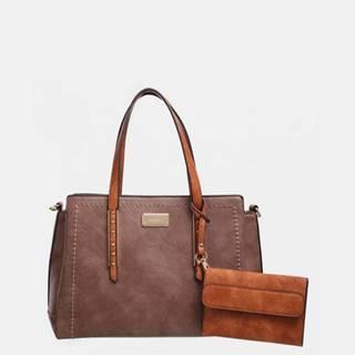 Hnedá kabelka s odopínacím púzdrom Bessie London