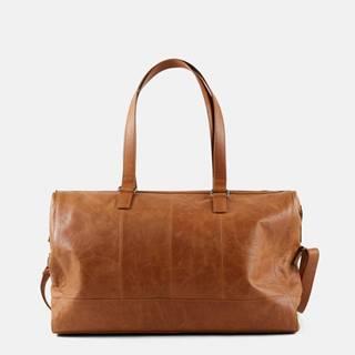 Hnedá kožená prebaľovacia taška Mama.licious
