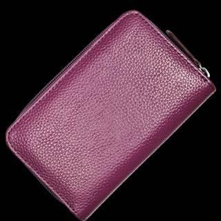 Fialová kožená peňaženka WB009 Purple