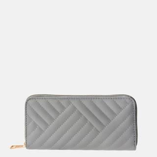 Šedá dámska prešívaná peňaženka Clayre & Eef