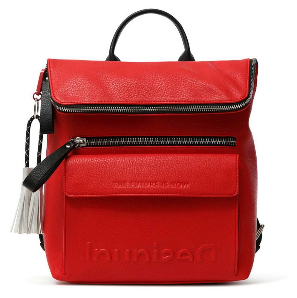 Desigual Desigual ruksak Back Embossed Half Logo Nerano Red