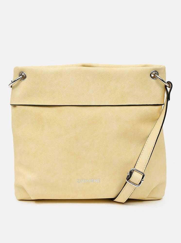Žltá crossbody kabelka Zaba...