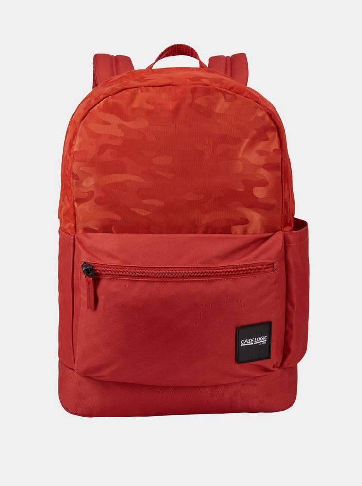 Case Logic Červený vzorovaný batoh Case Logic Founder 26 l