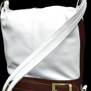 kožená kabelka cez rameno Adele Bianca