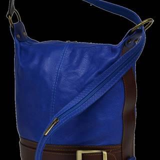 kožená kabelka cez rameno dámska Adele Blu Marina