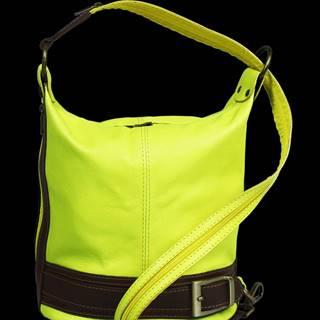 kožená kabelka cez rameno Adele Gialla Fluorescenza