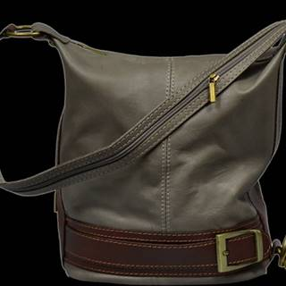 kožená kabelka cez rameno Adele Grigia Scura
