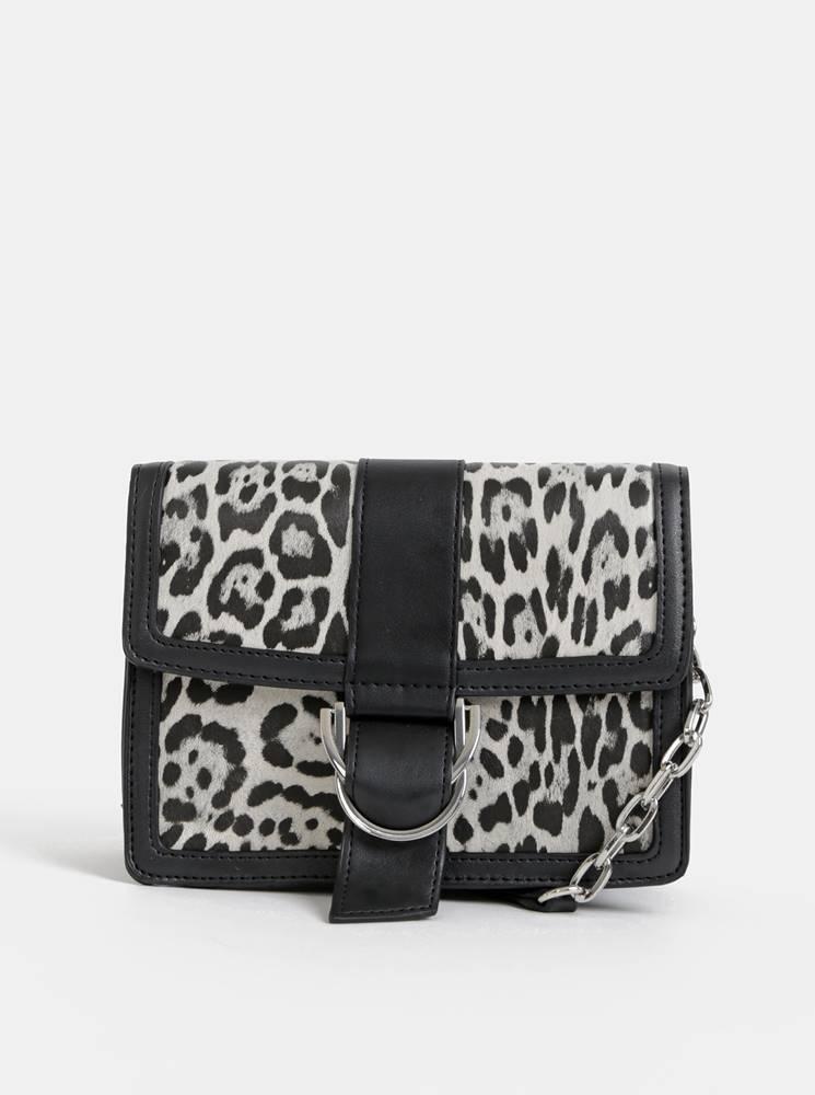 Dorothy Perkins Šedá crossbody kabelka s leopardím vzorom Dorothy Perkins