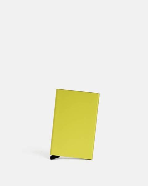 Secrid Žlté hliníkové púzdro na karty Secrid Cardprotector