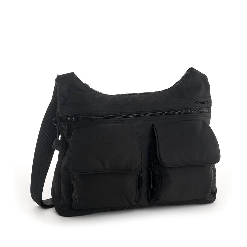 Hedgren Shoulderbag Prarie RFID Black Tone on Tone