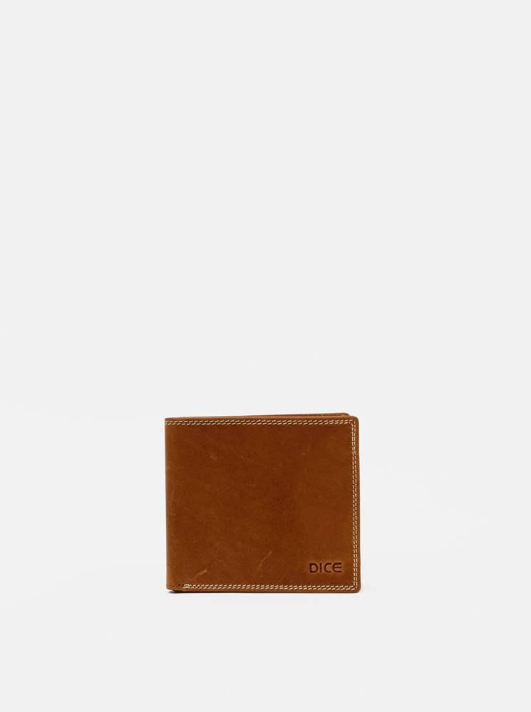 Dice Hnedá pánska kožená peňaženka Dice Ryley