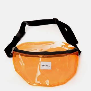 Oranžová transparentná ľadvinka Spiral