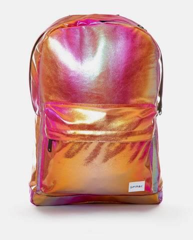 Ružový leský batoh Spiral