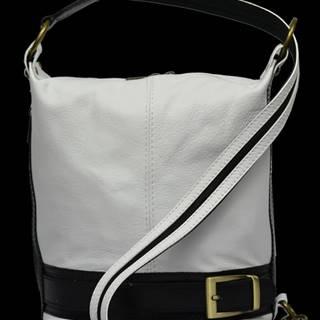 kožená kabelka cez rameno Adele Bianca Nera